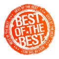 Best of the best stamp. Royalty Free Stock Photography