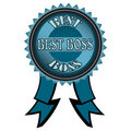 Best boss badge Royalty Free Stock Photo