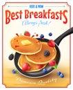 Best Breakfasts Vintage Advertisement Poster