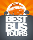 Best bus tour design template. Royalty Free Stock Photography