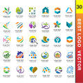 Best Business Corporate Logo Set 30 vector Royalty Free Stock Photo
