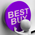 Best buy button shows top quality product showing Stock Photography