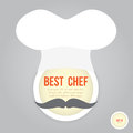 Best chef face on retro style Royalty Free Stock Photo