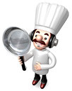 Best Chef male holding a frying pan Stock Photos