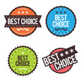 Best choice badges vector illustration of colorful Stock Images