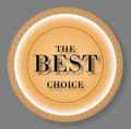 The best choice brown sign Stock Images