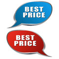 Best choice bubble pair of speech bubbles in red and blue Royalty Free Stock Photo