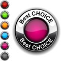 Best choice  button. Royalty Free Stock Image
