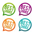 Best choice Buttons. Circle Eps10 Vector.
