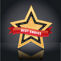 Best choice, gold star emblem Royalty Free Stock Image