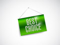 Best choice hanging banner illustration design over white Stock Images