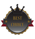 Best choice label eps vector illustration Royalty Free Stock Photography