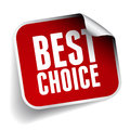 Best choice label vector isolated Stock Images