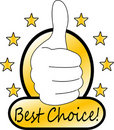 Best choice mark Stock Photography