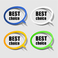 Best choice paper labels set of four different coloured Stock Photo