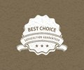Best choice sign Royalty Free Stock Images