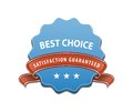 Best choice sign and satisfaction guaranteed label vector illustration Stock Photography