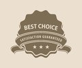 Best choice sign Royalty Free Stock Photo