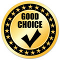 Best choice sticker Stock Image