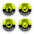 Best choice stickers Stock Image