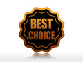 Best choice text in d golden black star label business concept Stock Photo