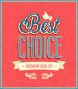 Best choice typographic design vector illustration Royalty Free Stock Images