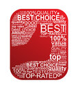 Best Choice Typography Sign Royalty Free Stock Photography