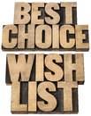 Best choice and wish list Royalty Free Stock Images