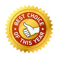 Best choice of this year label Royalty Free Stock Photos