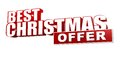 Best christmas offer in d red letters and block over white background business holiday concept Royalty Free Stock Image
