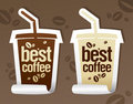 Best coffee stickers. Royalty Free Stock Photo