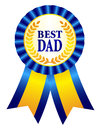 Best dad ribbon rosette award with text and gold laurel specially for father s day designs Stock Photos