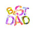 Best dad. Triangular letters