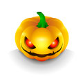 The best dark pumpkin on halloween with the eyes Stock Image