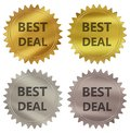 Best deal guarantee label Royalty Free Stock Photo