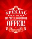 Best deal design template special offer Royalty Free Stock Image