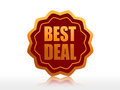 Best deal starlike label Royalty Free Stock Photo
