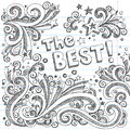 The Best Doodle Sketch School School Style Vector Stock Photo