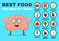 Best food for strong brain. Strong healthy Royalty Free Stock Photo