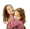 Best freinds hugging Royalty Free Stock Photos