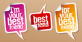Best friend stickers. Royalty Free Stock Image