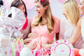 Best Friends on baby shower party celebrating Royalty Free Stock Photo