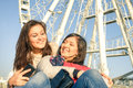 Best friends enjoying time together Royalty Free Stock Photo