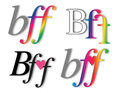 Best friends forever bff symbol email and internet Royalty Free Stock Photography