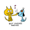 Best friends forever Royalty Free Stock Photo
