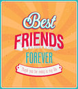 Best friends forever typographic design vector illustration Stock Images