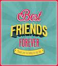 Best friends forever typographic design vector illustration Royalty Free Stock Photography