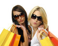 Best friends go shopping Royalty Free Stock Images