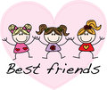 Best friends pattern for children top header or banner picture Royalty Free Stock Photo