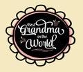 Best Grandma in the World Emblem